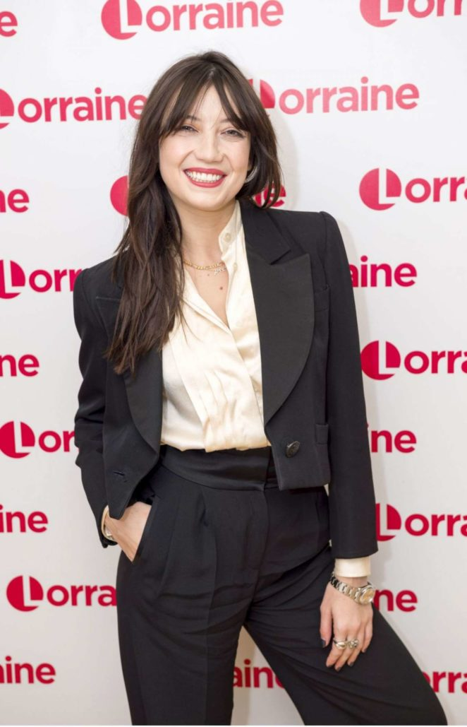 Daisy Lowe on Lorraine TV Show in London