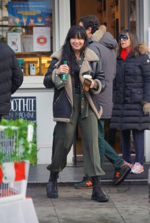 Daisy Lowe - Seen at a coffee shop in London
