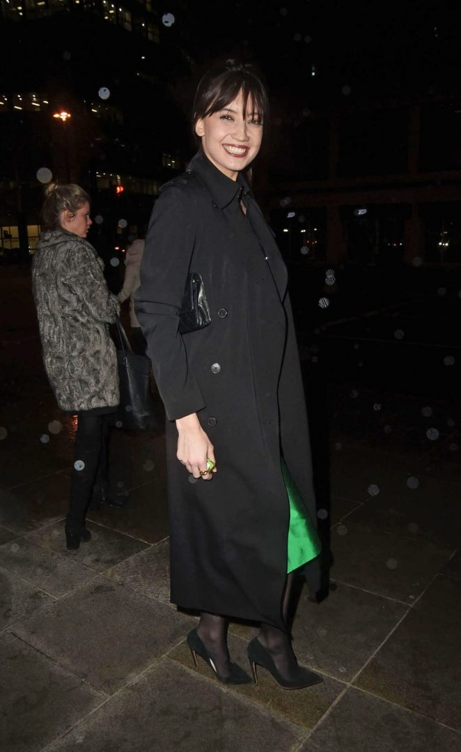 Daisy Lowe - Seen at Heron Tower in London