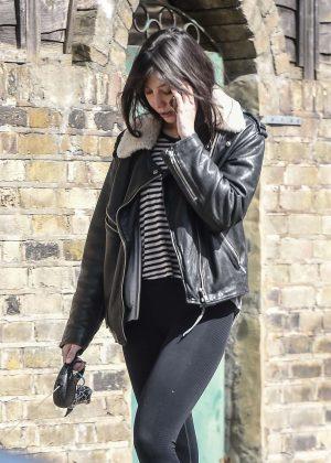 Daisy Lowe - Walks her dog in North London