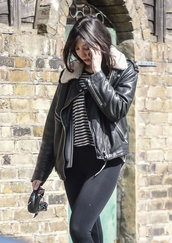 Daisy Lowe – Walks her dog in North London