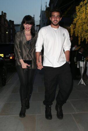 Daisy Lowe - With Jordan Saul seen leaving Scott's restaurant in Mayfair in London