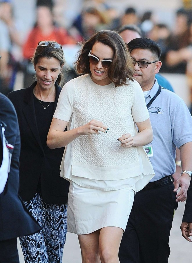 Daisy Ridley - Arrives at Jimmy Kimmel Live! Show in LA