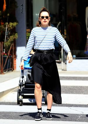 Daisy Ridley at La Scalia in Beverly Hills
