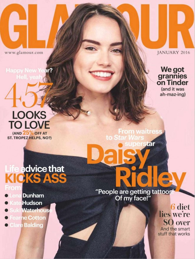 Daisy Ridley - Glamour UK Magazine (January 2016) adds