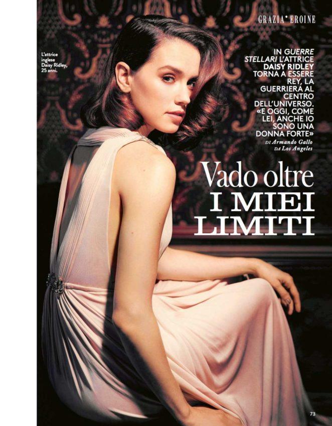 Daisy Ridley - Grazia Italy Magazine (November 2017)