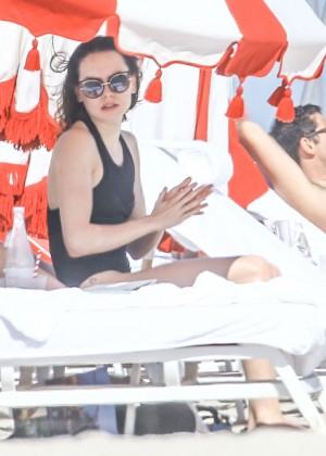 Daisy Ridley: Bikini in Miami 2015-01