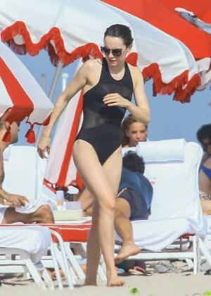 Daisy Ridley: Bikini in Miami 2015-08