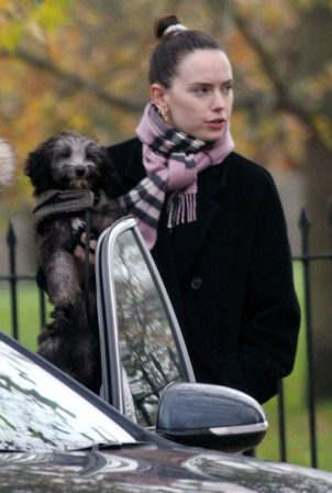 Daisy Ridley - Seen out with her dog in Primrose Hill