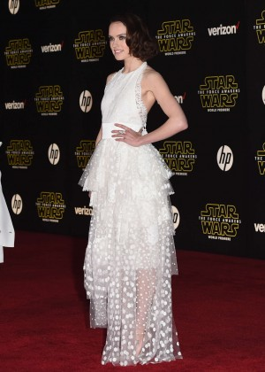 Daisy Ridley - Star Wars: The Force Awakens premiere in Hollywood