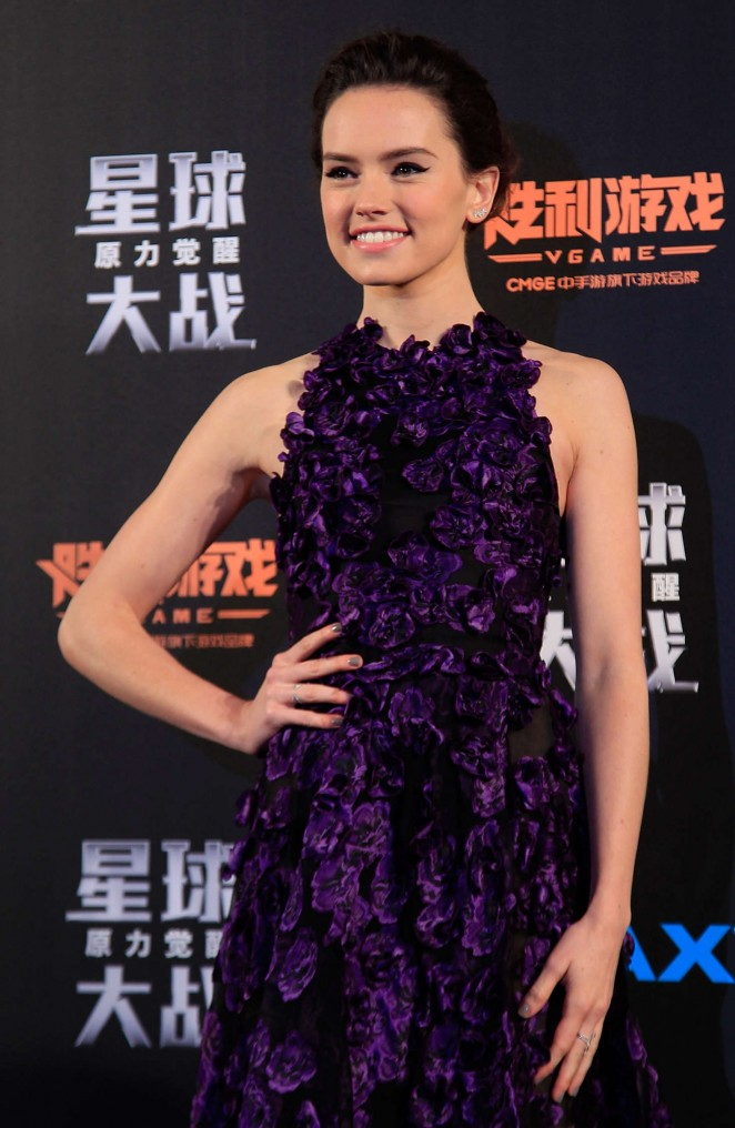 Daisy Ridley – 'Star Wars: The Force Awakens' Premiere in Shanghai