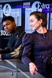 Daisy Ridley - Visists BBC Radio 1 in London