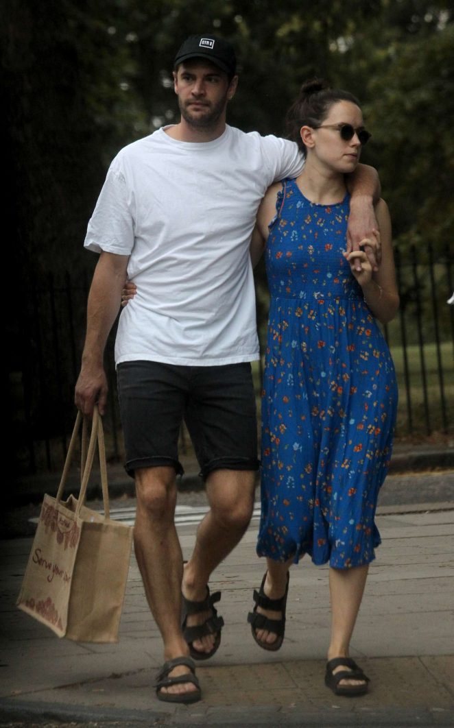 Daisy Ridley with boyfriend out in London