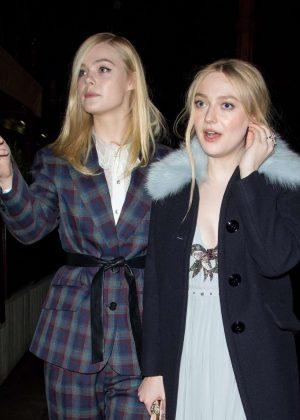 Dakota and Elle Fanning - Celebrating Dakota's directorial debut in London