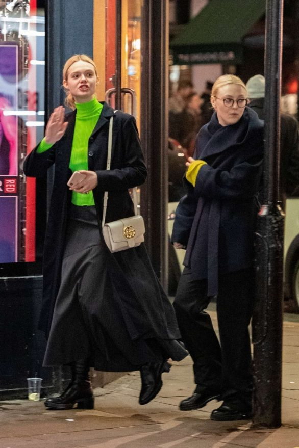 Dakota and Elle Fanning - Out and about in London