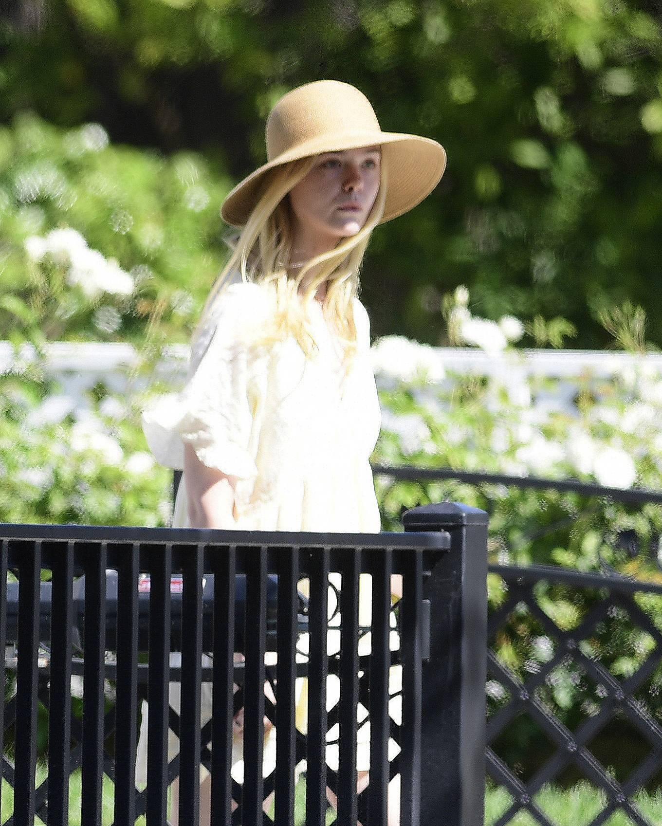 Dakota and Elle Fanning - Out in Los Angeles
