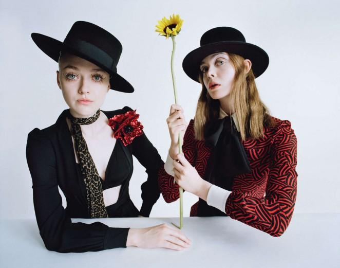 Dakota and Elle Fanning - W Magazine (February 2015)