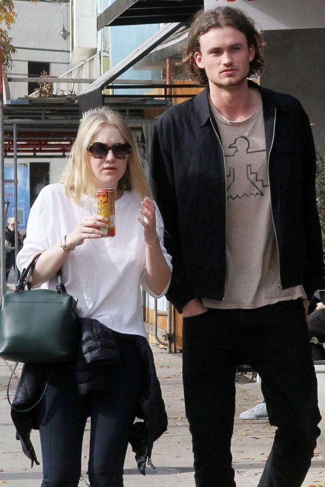 Dakota Fanning and Henry Frye out for lunch at Joans on Third -21