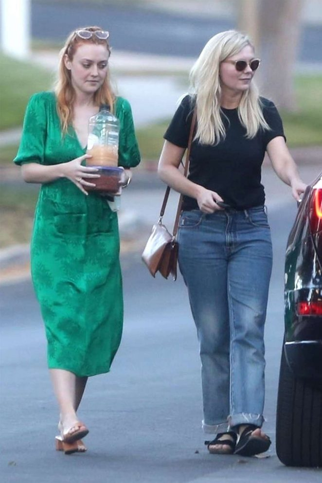 Dakota Fanning and Kirsten Dunst - Heading to a party together in Los Angeles