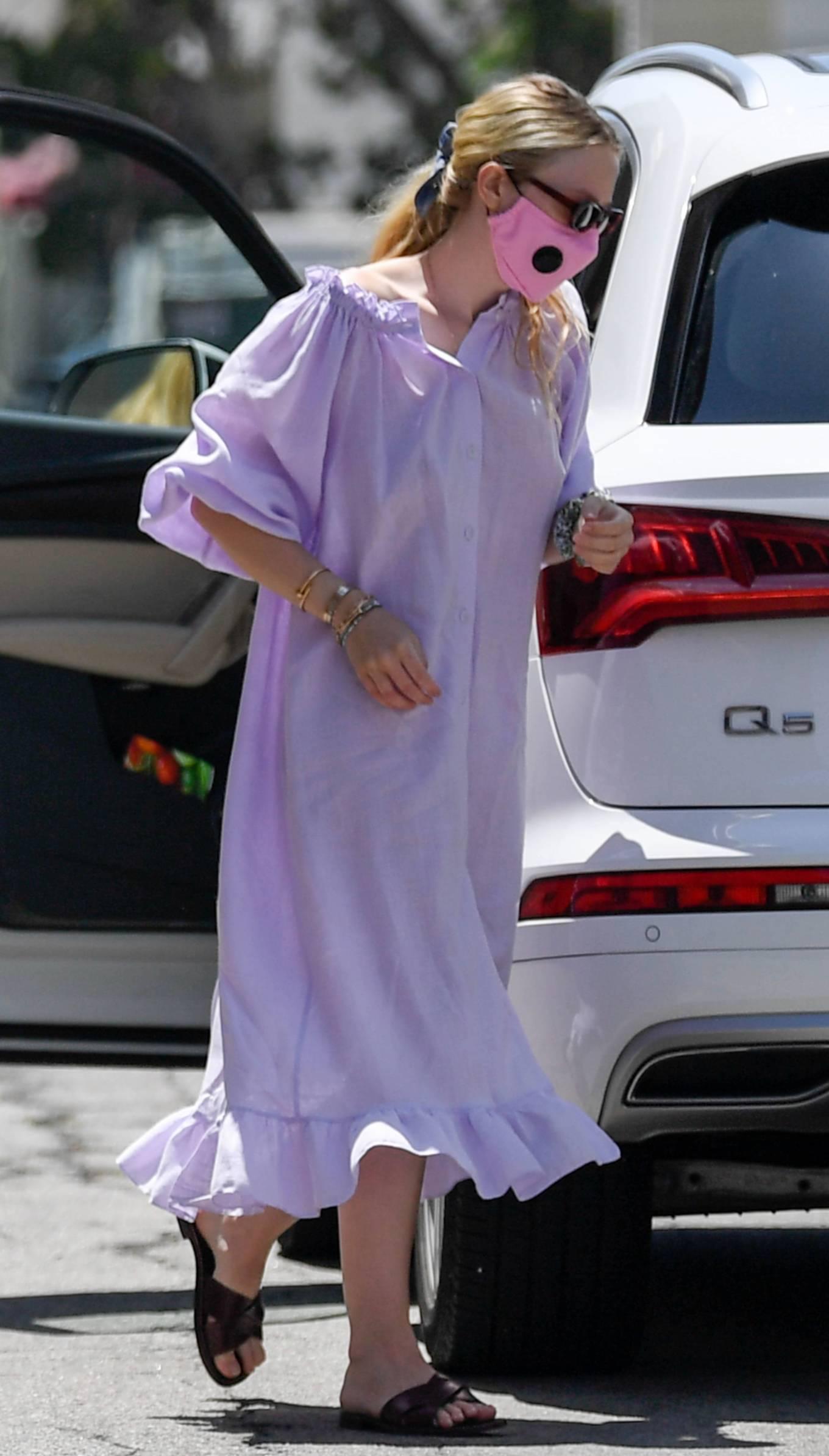 Dakota Fanning 2020 : Dakota Fanning – Arriving at a spa in Beverly Hills-01