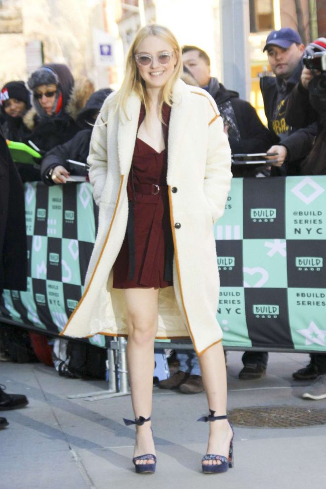 Dakota Fanning - Arriving at the AOL Build Speaker Series in NY