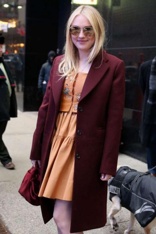 Dakota Fanning at Good Morning America in NYC