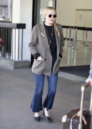 Dakota Fanning at LAX airport in Los Angeles