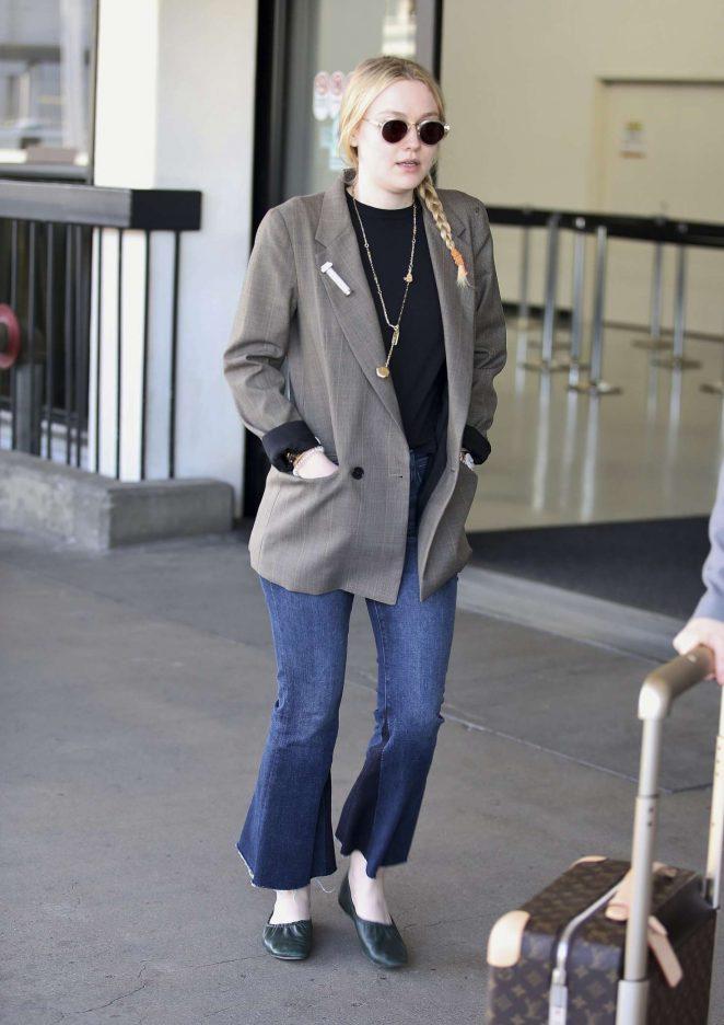 Dakota Fanning at LAX airport in Los Angeles