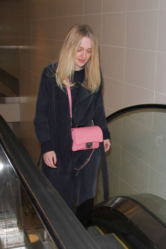 Dakota Fanning at LAX in Los Angeles