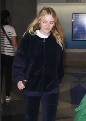 Dakota Fanning at LAX International Airport in Los Angeles