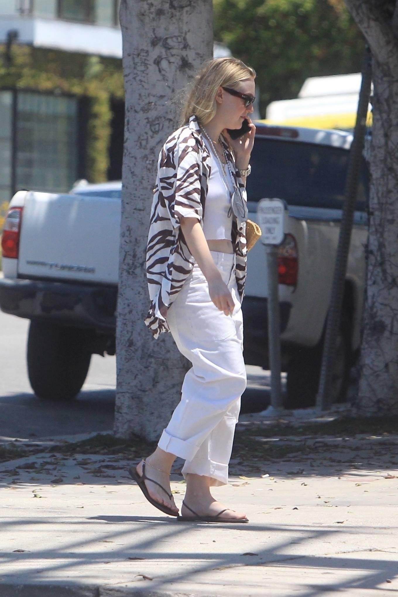 Dakota Fanning 2021 : Dakota Fanning – Grab a cold beverage in West Hollywood-21