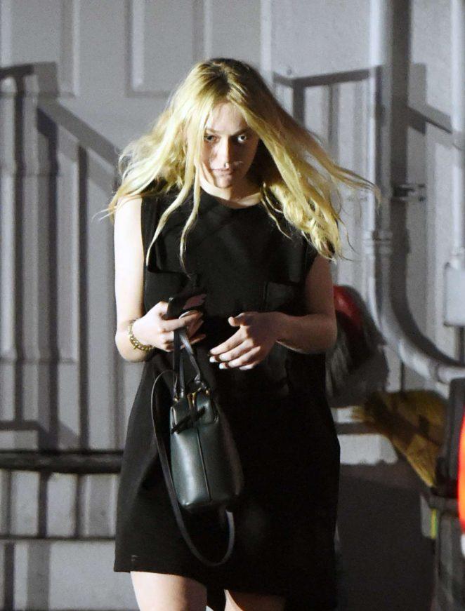 Dakota Fanning - Heading to a salon in LA
