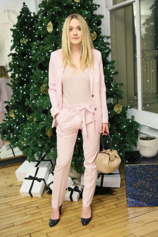Dakota Fanning – Holiday Celebration The Line in New York