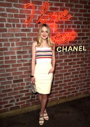 Dakota Fanning - I Love Coco Backstage Beauty Lounge in LA