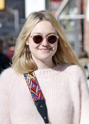Dakota Fanning in Jeans out in NYC  Dakota Fanning