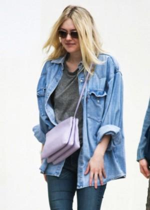 Dakota Fanning in Jeans Out in Studio City