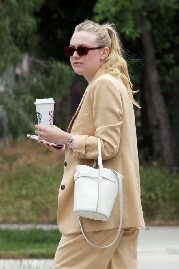 Dakota Fanning in Suit - Out in Los Angeles