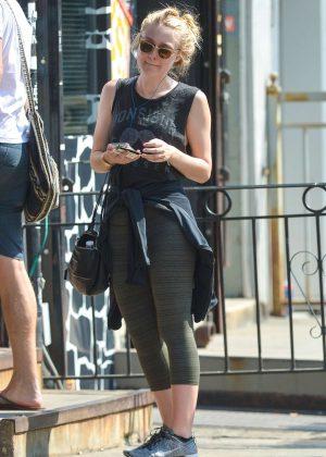 Dakota Fanning in Tights out in Manhattan