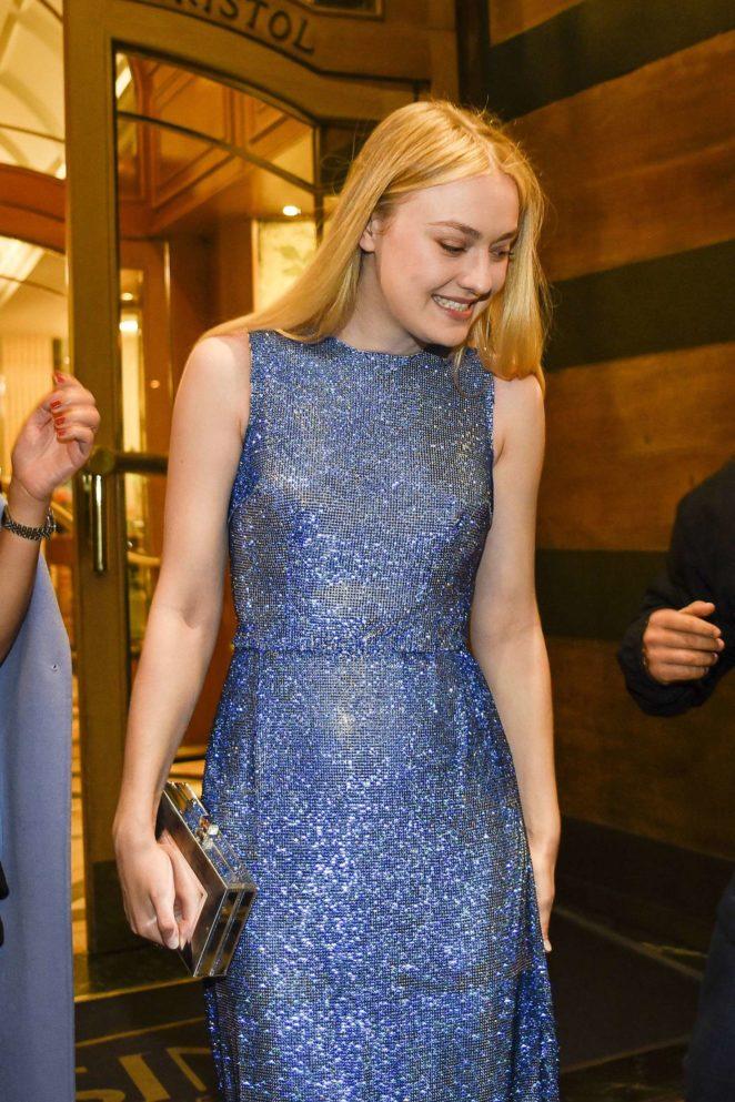 Dakota Fanning - Leaving her hotel in Rome