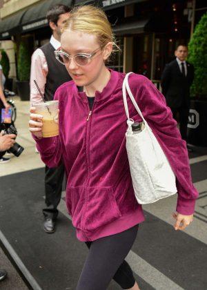 Dakota Fanning - Leaving the Mark Hotel in New York City