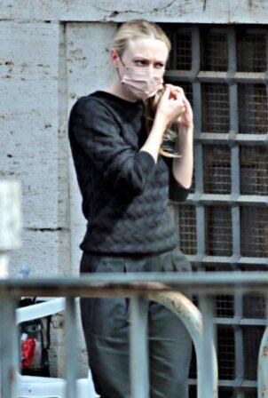 Dakota Fanning - on the set of 'Ripley' in Rome
