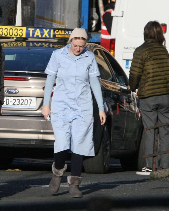 Dakota Fanning - On the set of 'Sweetness' in Dublin