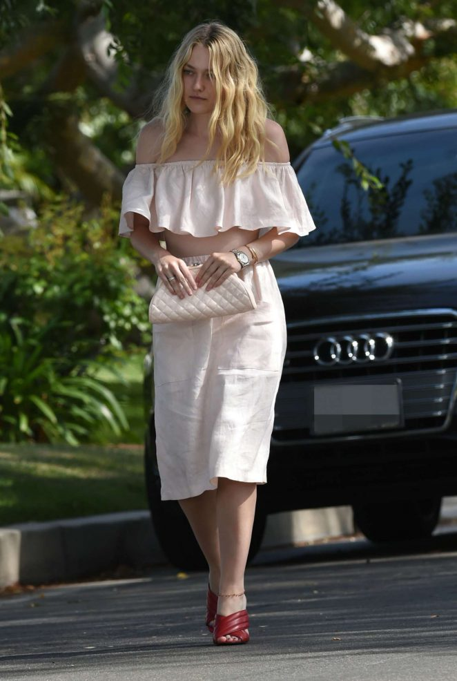 Dakota Fanning out and about in Los Angeles