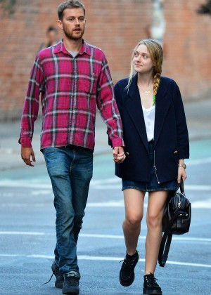 Dakota Fanning - Out and about in New York