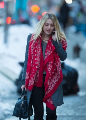 Dakota Fanning - Out and about in Soho