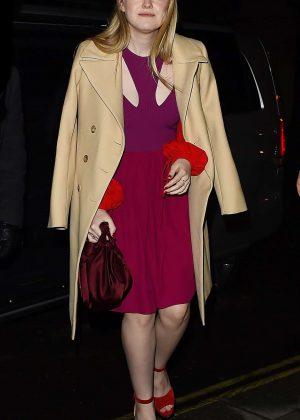 Dakota Fanning - Out for dinner in London