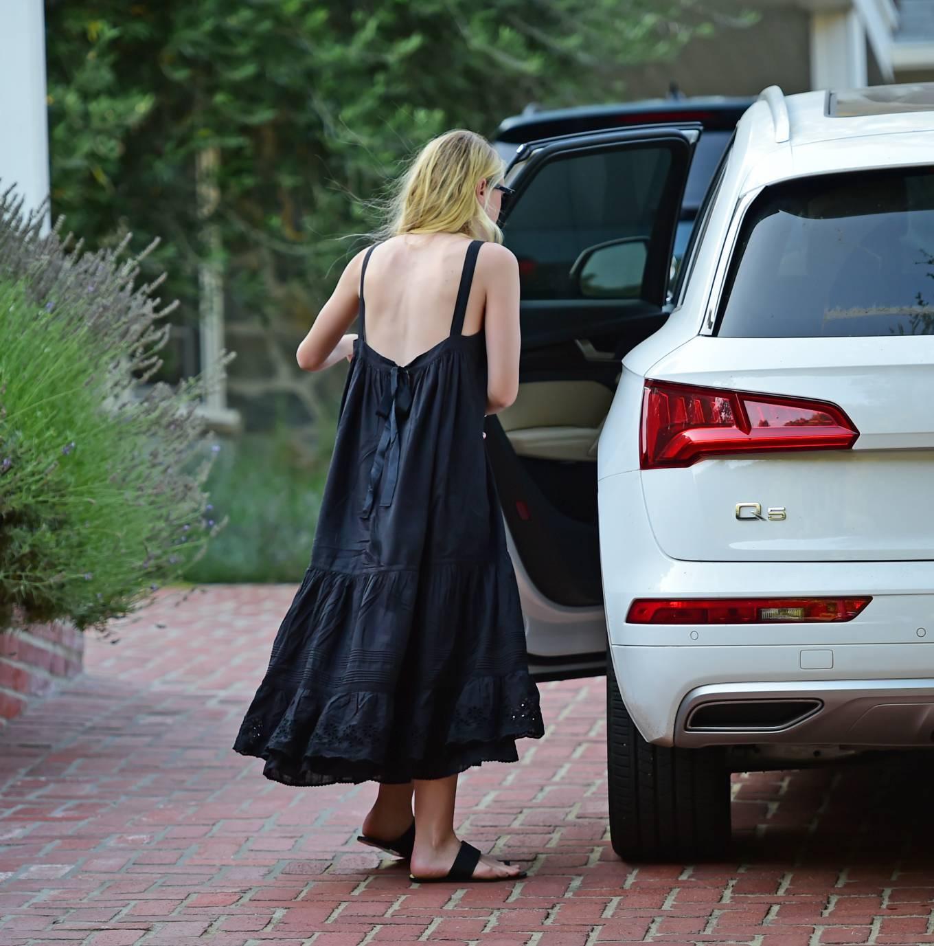 Dakota Fanning 2020 : Dakota Fanning – Out from a car in Los Angeles-02