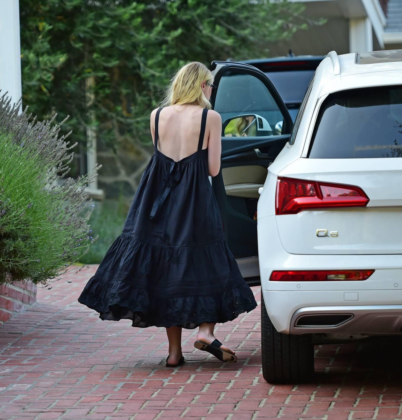 Dakota Fanning 2020 : Dakota Fanning – Out from a car in Los Angeles-03