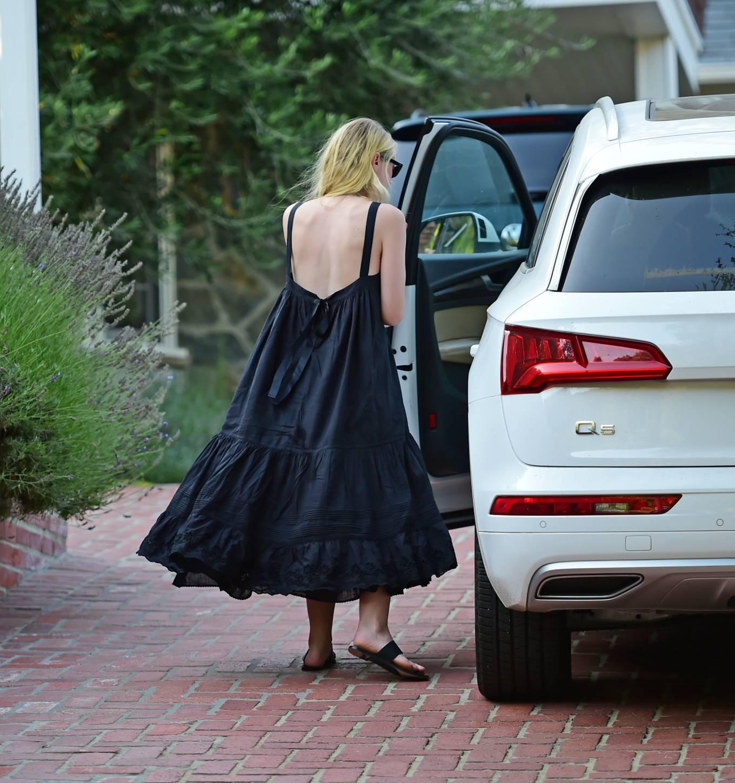 Dakota Fanning 2020 : Dakota Fanning – Out from a car in Los Angeles-08