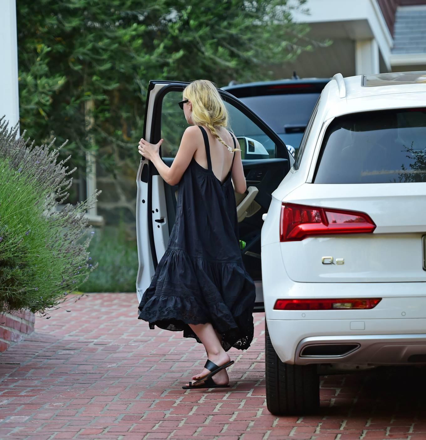 Dakota Fanning 2020 : Dakota Fanning – Out from a car in Los Angeles-12